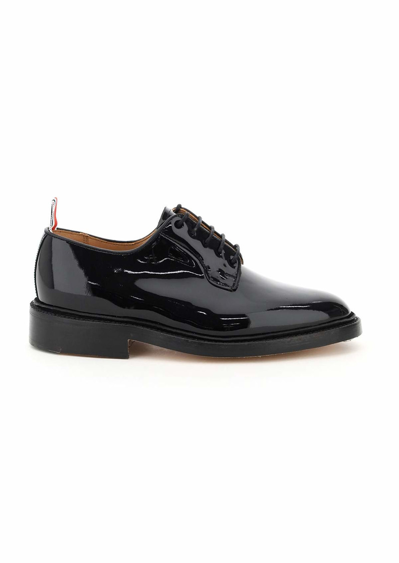 Thom Browne Lace-up Derby Shoes In Patent Leather