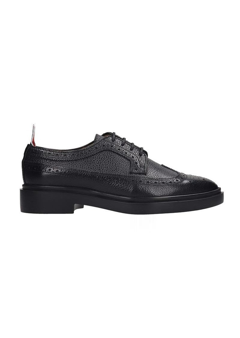 Thom Browne Lace Up Shoes In Black Leather