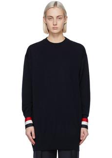 Thom Browne Navy Merino Oversized Fit Sweater