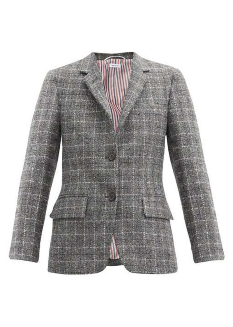Thom Browne Single-breasted check wool jacket