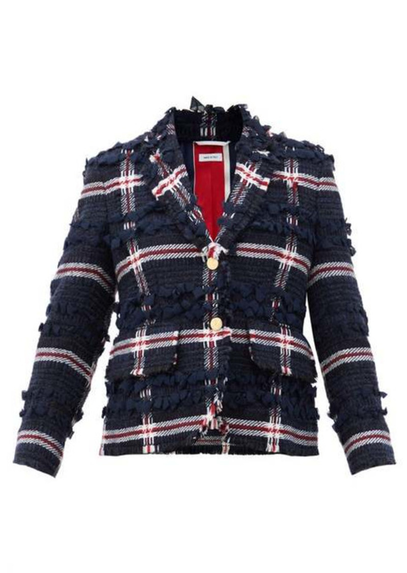 Thom Browne Single-breasted wool-blend tweed jacket