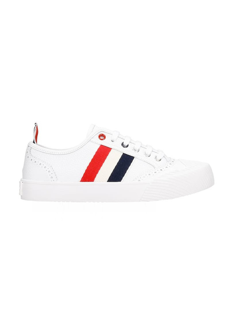 Thom Browne Sneakers In White Leather