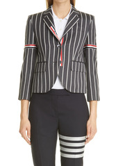 Thom Browne Stripe High Armhole Wool Sport Coat