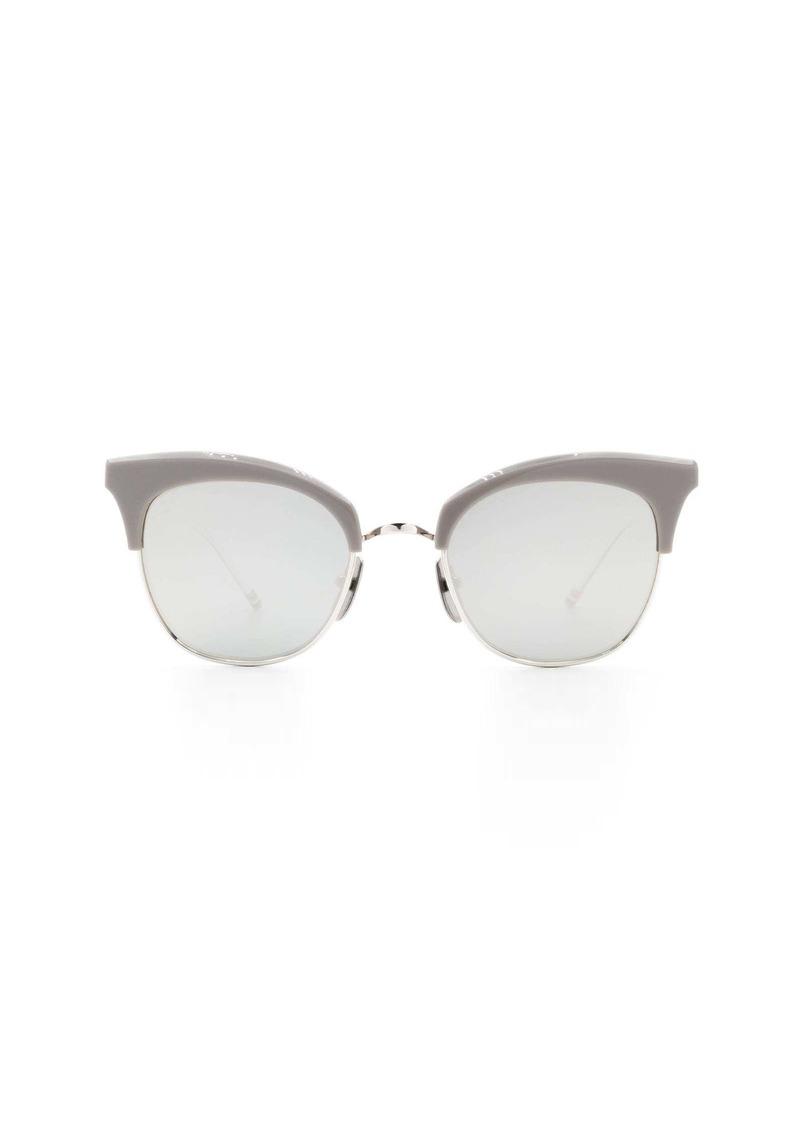 Thom Browne Thom Browne Tb507 B-t-gry-slv Sunglasses