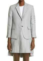 Thom Browne Tonal 4-Bar Linen Jacket