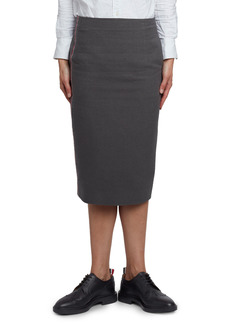 Thom Browne Wool & Cotton Pencil Skirt