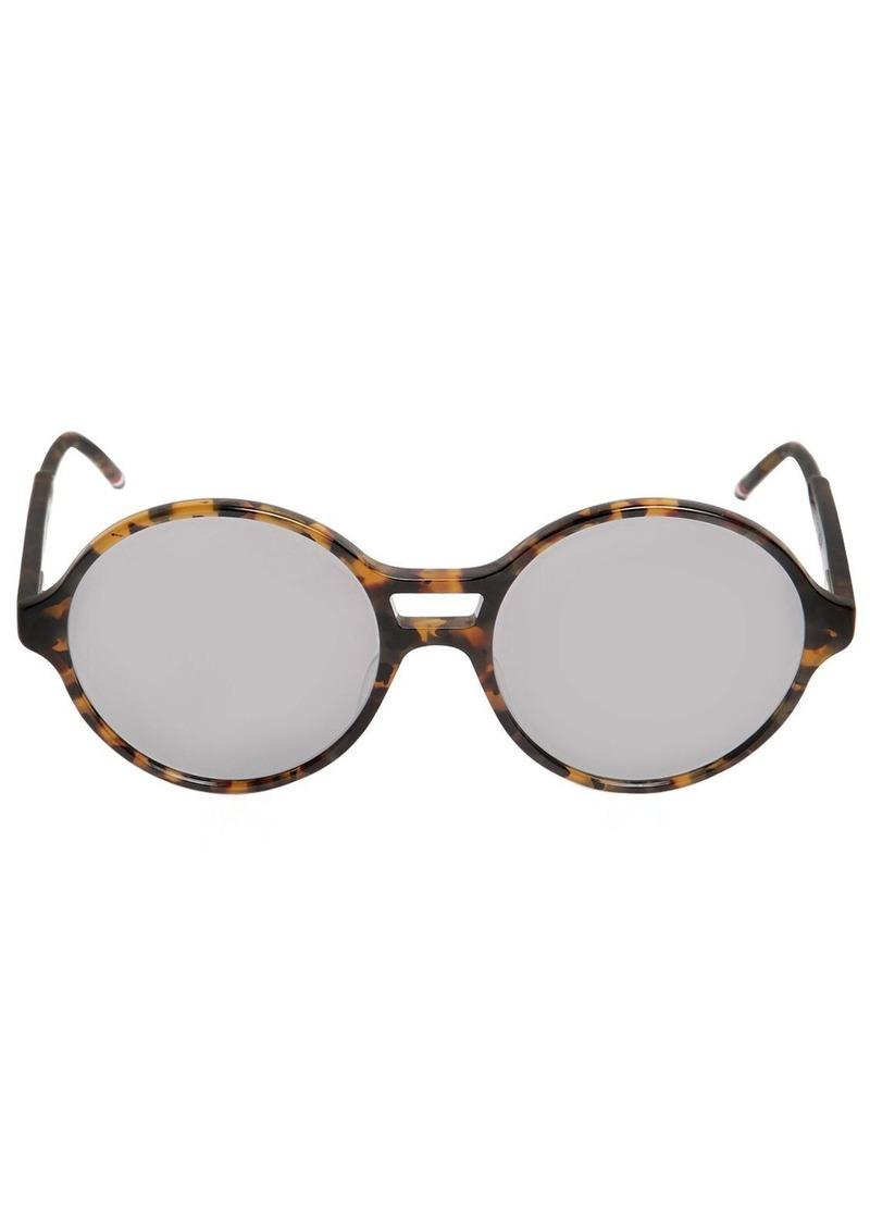 Thom Browne Tokyo Acetate T-shell Round Sunglasses