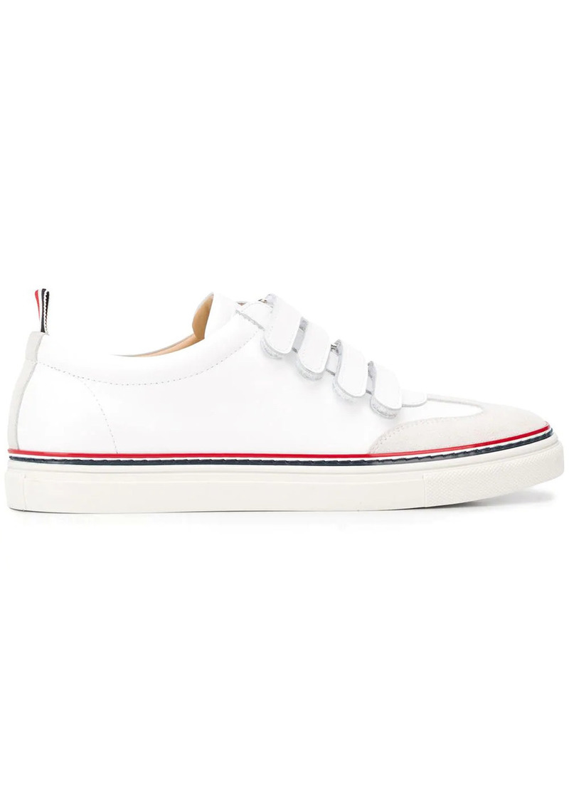 Thom Browne touch strap low-top sneakers