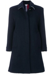 Thom Browne Unlined Stripe Wool Overcoat