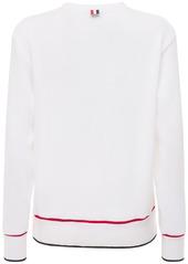 Thom Browne Waffle Cotton Crewneck Sweatshirt