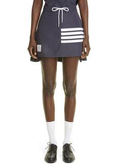 Women's Thom Browne Stripe Panel Drop Back Miniskirt