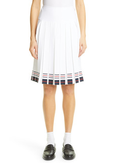 Women's Thom Browne Stripe Pleated Skirt