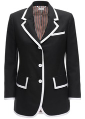 Thom Browne Wool Jacket W/ Wide Lapels