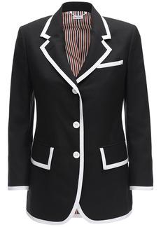 Thom Browne Wool Jacket W/ Wide Lapels