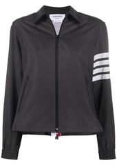 Thom Browne tricolor flyweight tech zip-gusset 4-Bar jacket