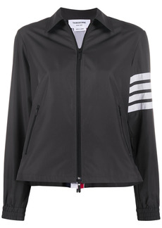 Thom Browne zip-gusset 4-Bar stripe jacket