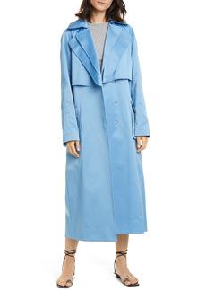 Women's Tibi Duchesse Tech Satin Trench Coat