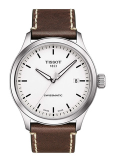 Tissot Gent XL GTS Automatic Leather Strap Watch, 43mm