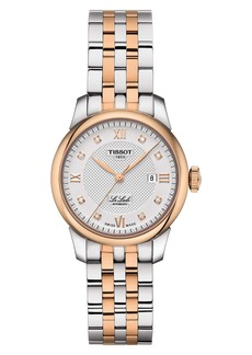 Tissot Le Locle Automatic Diamond Bracelet Watch, 29mm