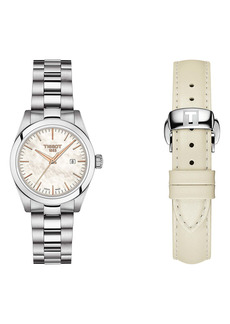 Tissot T-My Lady Bracelet Watch & Leather Strap Gift Set, 29.3mm