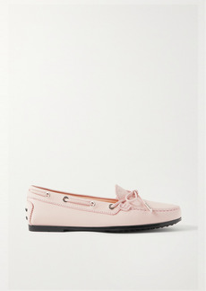 Tod's City Gommino Textured-leather Loafers