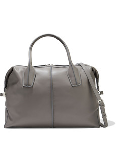 Tod's Woman D-styling Leather Tote Gray