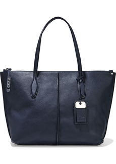 Tod's Woman Joy Pebbled-leather Tote Navy