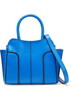 Tod's Woman Sella Micro Leather Tote Bright Blue