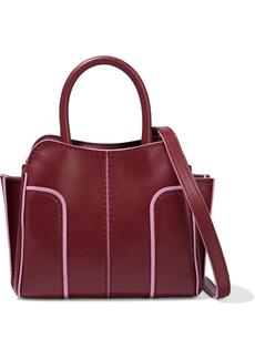 Tod's Woman Sella Micro Leather Tote Burgundy