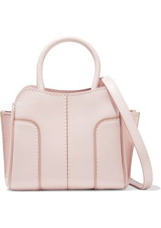 Tod's Woman Sella Micro Leather Tote Pastel Pink