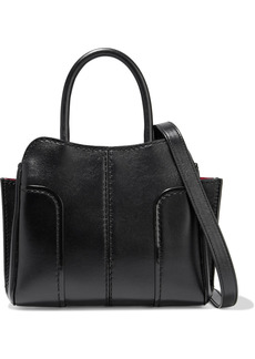 Tod's Woman Sella Mini Leather Tote Black