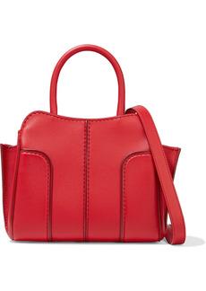 Tod's Woman Sella Mini Leather Tote Tomato Red