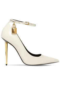 Tom Ford 105mm Padlock Leather Pumps