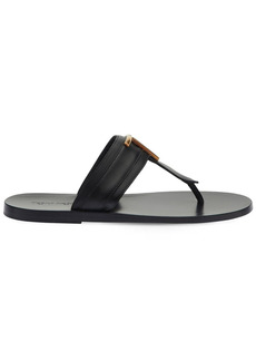 Tom Ford 10mm Brighton Leather Thong Sandals