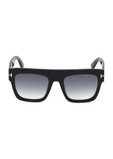 Tom Ford Gradient Smoke 52MM Square Sunglasses