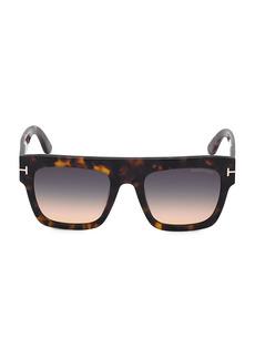 Tom Ford Havana & Gradient Smoke 52MM Square Sunglasses