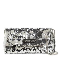Tom Ford Label Small Sequined Shoulder Bag