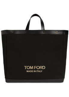 Tom Ford T Screw Medium Canvas Shopping Bag