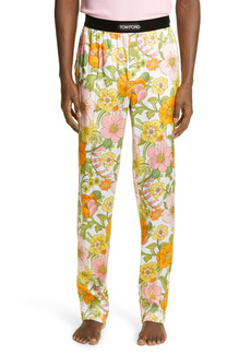 Tom Ford Floral Stretch Silk Pajama Pants