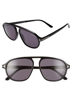 Tom Ford Harrison 57mm Aviator Sunglasses