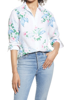 Tommy Bahama Floral Fronds Linen Blouse