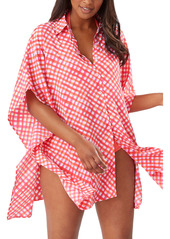 Tommy Bahama Harbour Island Boyfriend Shirt Cover-Up Tunic