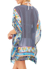 Tommy Bahama Sun Lilies Lace-Up Cover-Up Tunic