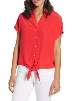 Tommy Bahama Tove Tie Front Silk Shirt