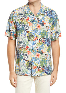 Tommy Bahama x Disney Jungle Jubilee Floral Short Sleeve Button-Up Shirt