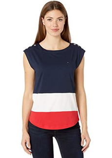 Tommy Hilfiger Coco Blocked Top with Magnetic Closure