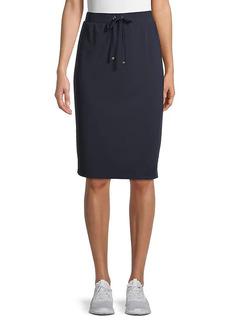 Tommy Hilfiger Tie-Waist Pencil Skirt