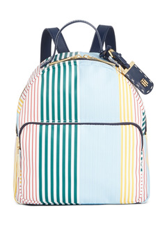 Tommy Hilfiger Julia Striped Nylon Dome Backpack, Created for Macy's