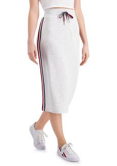 Tommy Hilfiger Striped-Trim Midi Skirt