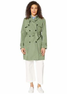 Tommy Hilfiger Women's Adaptive Long Trench with a Velcro Brand Closure Belt Winter Moss-PT L
